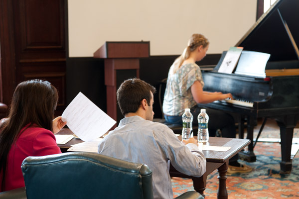 piano audition at Young Musicians Festival