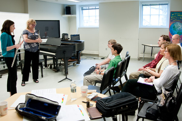 winds master class at Young Musicians Festival