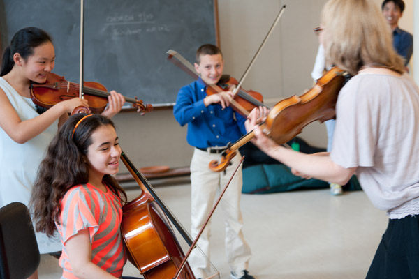 strings masterclass at Young Musicians Festival