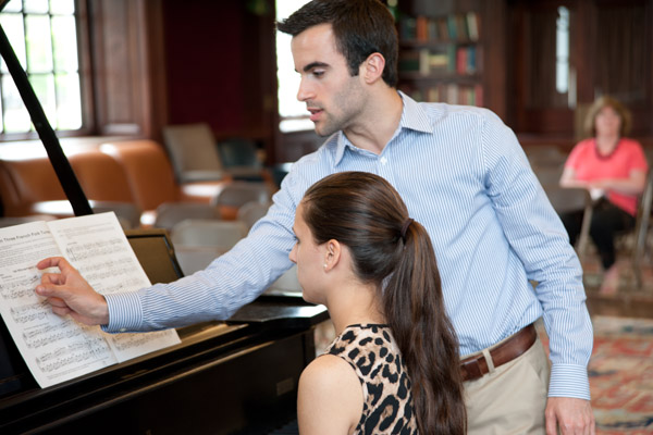 piano master class at Young Musicians Festival